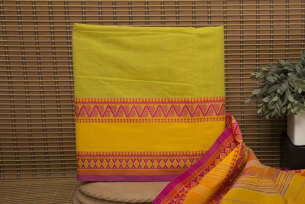Antique Moss Green Pure Cotton Saree - Aprudha