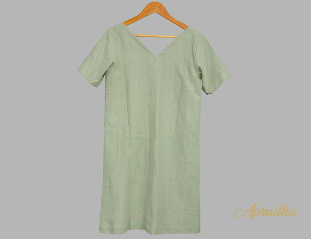 Olive Green Dress (Smart And Casual)