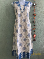 Cotton Kurta With Smart Patch Work