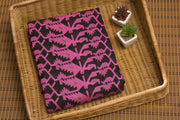 Black & Pink Pure Cotton Jamdani - Aprudha