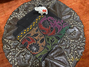 Black Floral Kantha Embroidered Blouse Piece - Aprudha