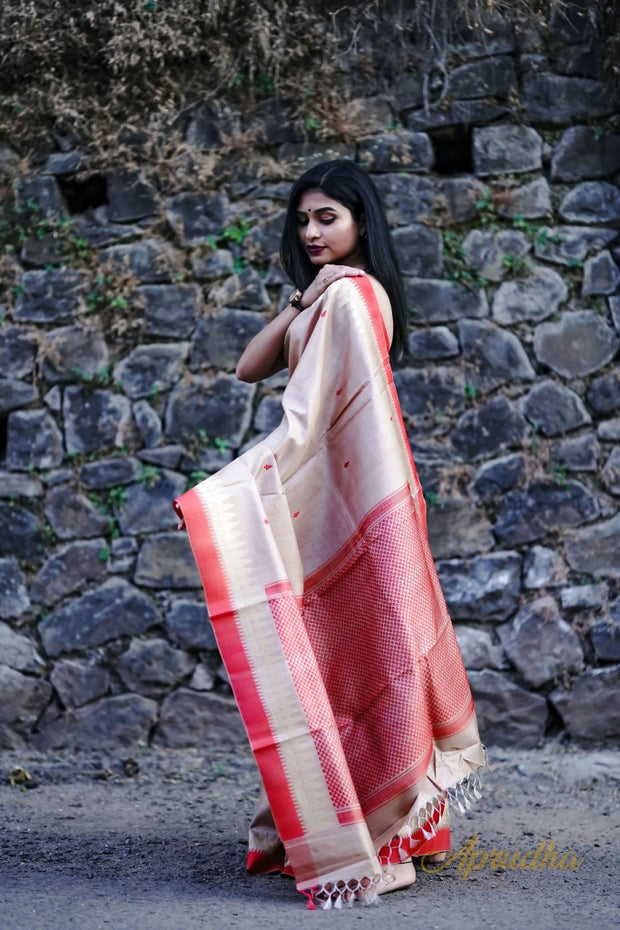 Warm Beige Kosa Pattu Saree