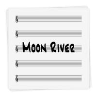 Moon River - Lead Sheet in Bb and C
