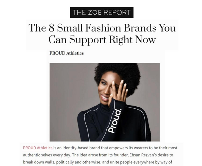 Proud has been featured on TheZoeReport.com