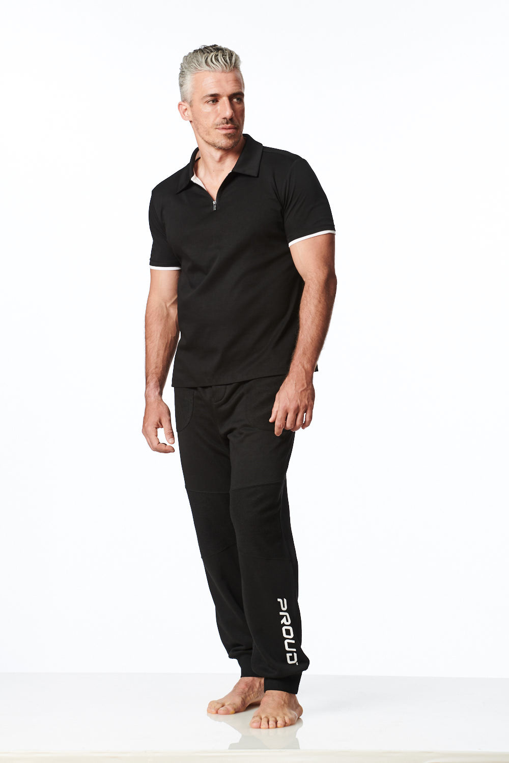 Load image into Gallery viewer, Black Jogger Pants for Men