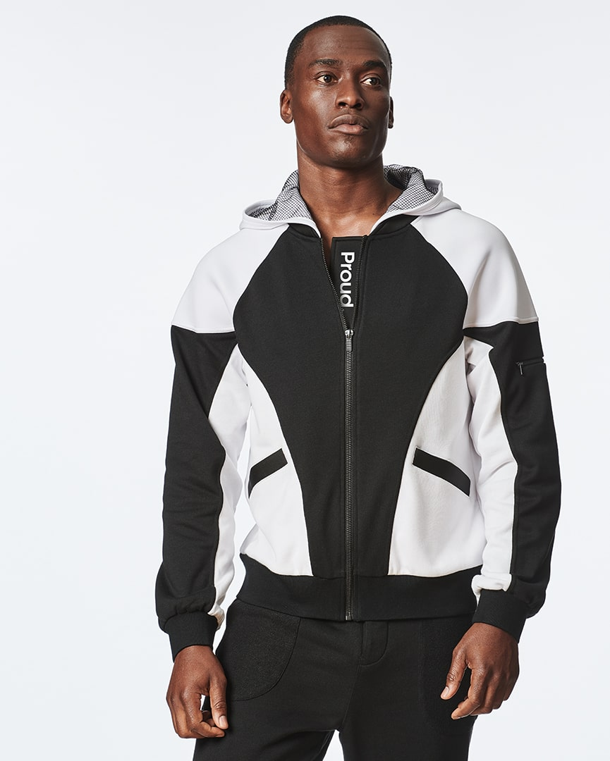 Load image into Gallery viewer, White Bomber Hoodie Jacket for Men