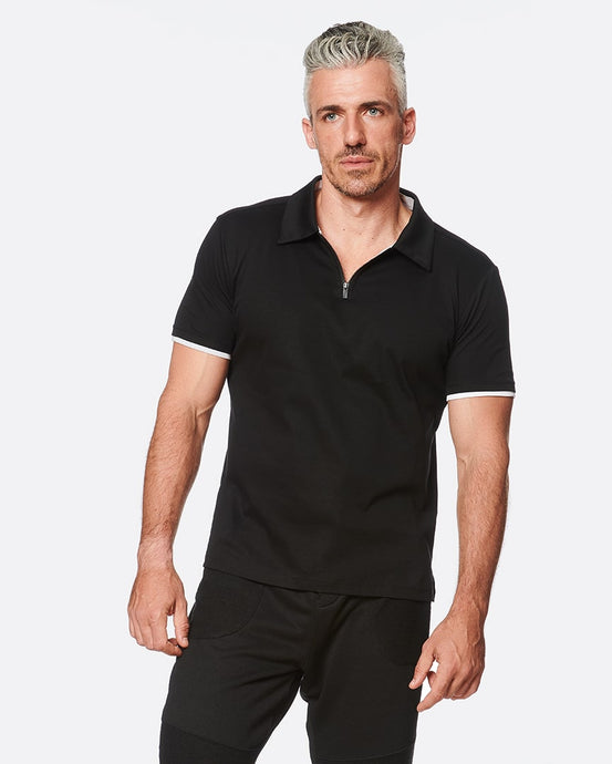 Slim Fit Zipper Polo for Men