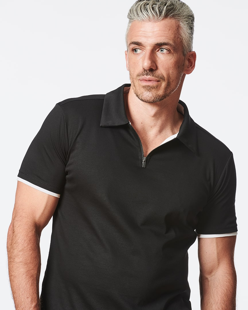 Load image into Gallery viewer, Slim Fit Zipper Polo for Men