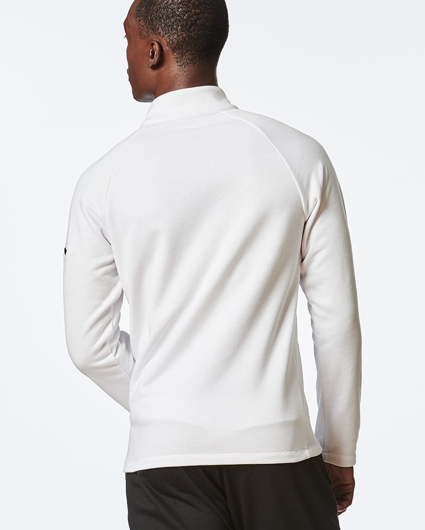 Load image into Gallery viewer, Be Strong - Zipper Pullover (White)