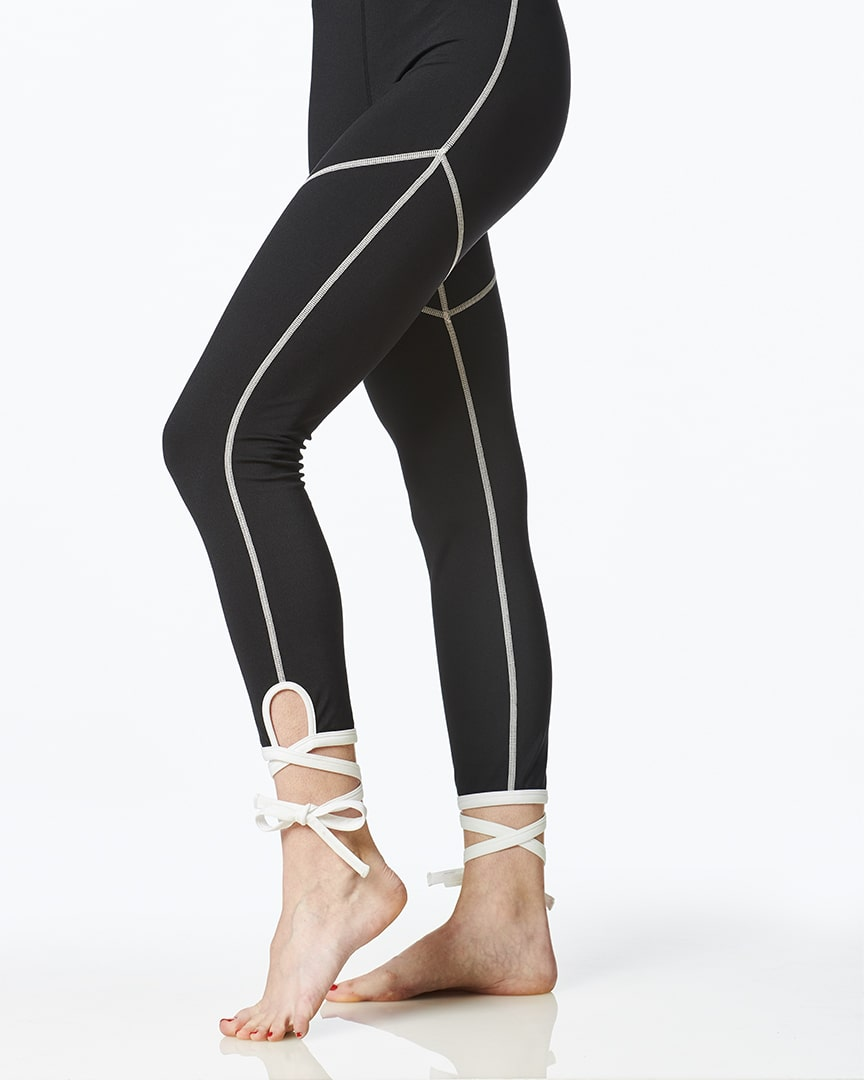 Load image into Gallery viewer, white ballerina leggings for women