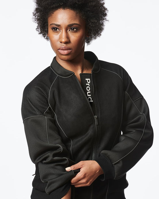 Black Bomber Jacket for Women