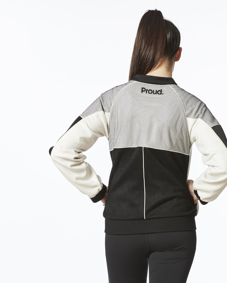 Load image into Gallery viewer, Be Positive - Bomber Jacket (White)