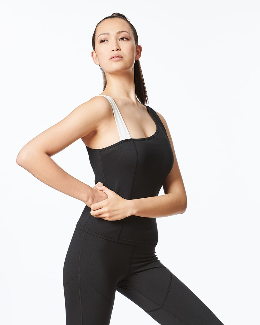 Load image into Gallery viewer, Built In Bra - Asymmetrical Workout Tank for Women