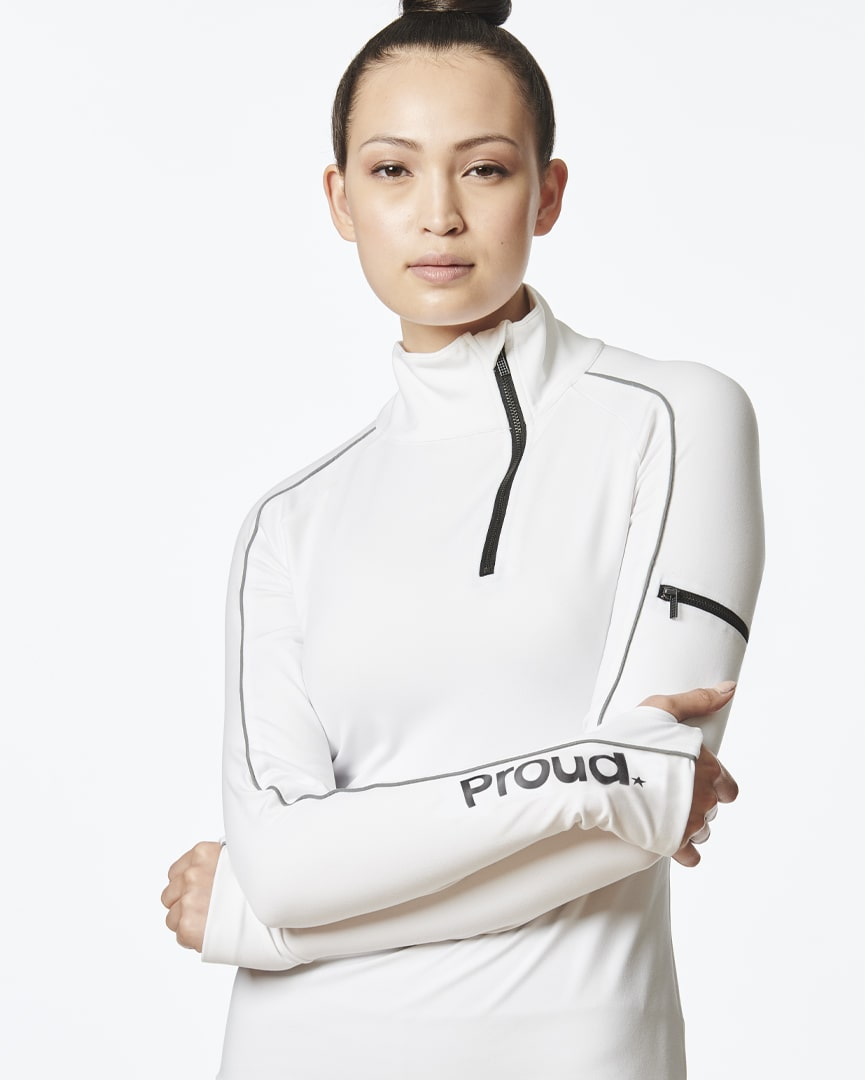 Be Courageous - Zipper Pullover (White)
