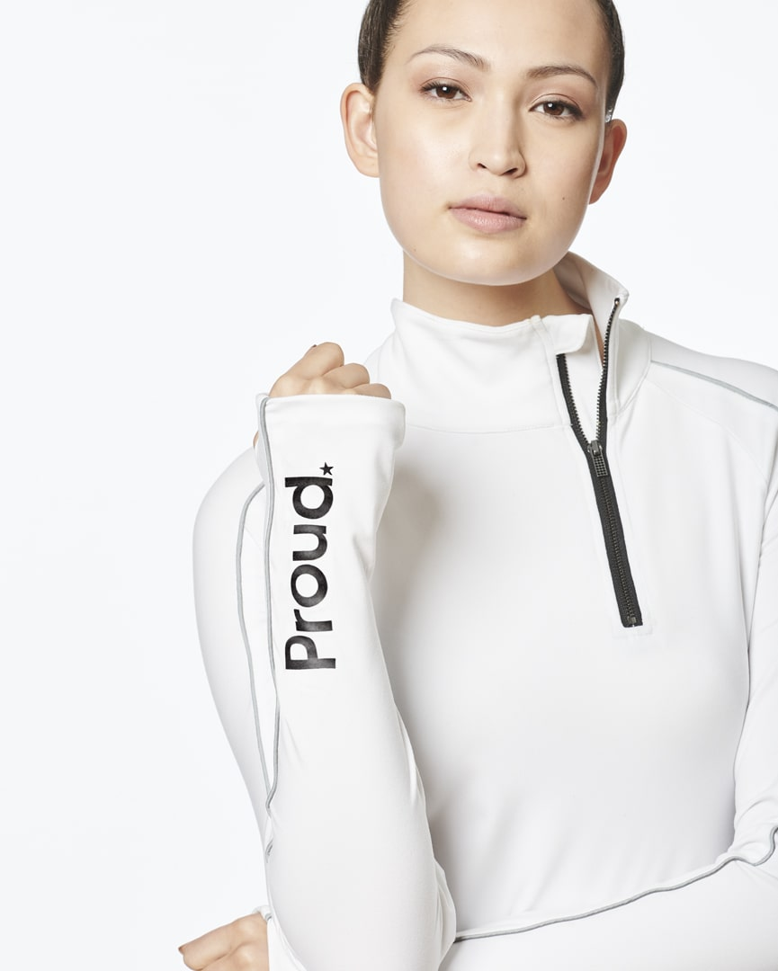 Load image into Gallery viewer, Be Courageous - Zipper Pullover (White)