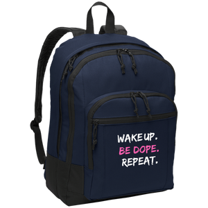 WAKE UP. BE DOPE. REPEAT. Backpack
