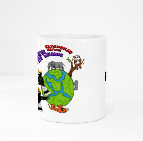 Mug - Save the Wildlife by Valerent - White