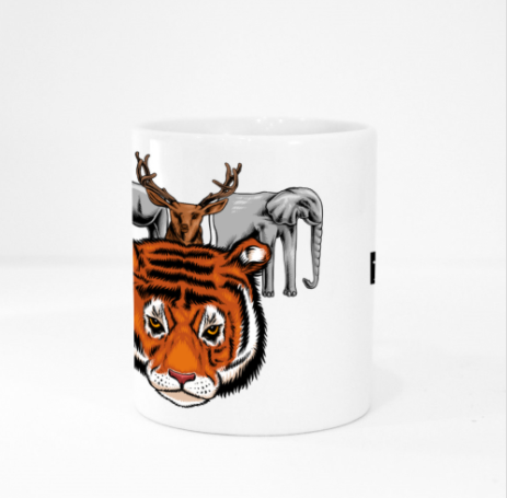 Mug - Tiger Squad by Pang Yii Hao - White