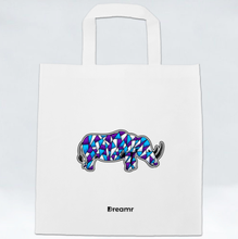 Load image into Gallery viewer, Non Woven Bag - Rhino by Jeffrey - White - Square
