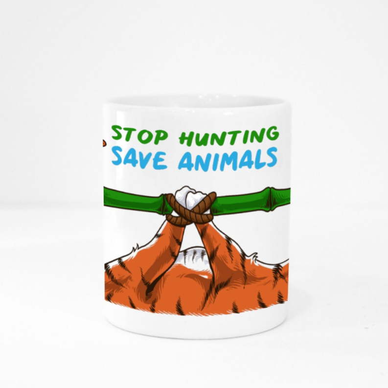 Mug - Stop Hunting Tiger by Rihanna - White
