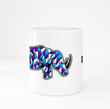 Mug - Rhino by Jeffrey - White