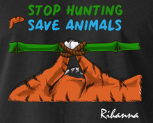 Load image into Gallery viewer, Stop Hunting Tiger by Rihanna - Black