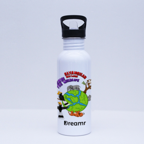 Sport Flask - Save the Wildlife by Valerent - White