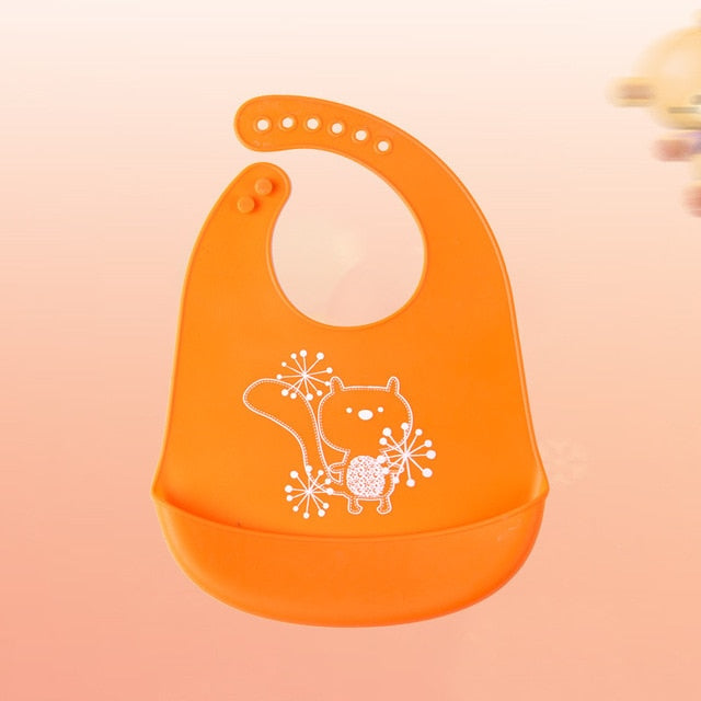 Cartoon Silicone Baby Bibs