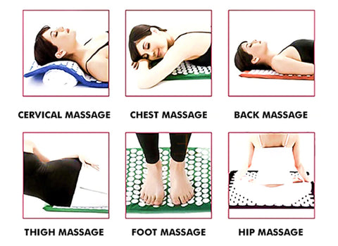 Acupressure Yoga Mat Pillow Back Pain Relief Massager