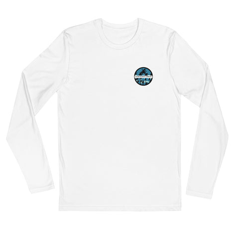 Palm Label Long Sleeve Fitted Crew
