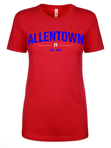 Allentown - Ladies Fitted crew neck - Red