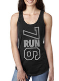 7RUN6 - Black - Ladies Racerback Tank Top