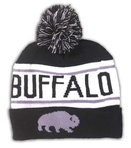 Buffalo Winter Hat - B & W