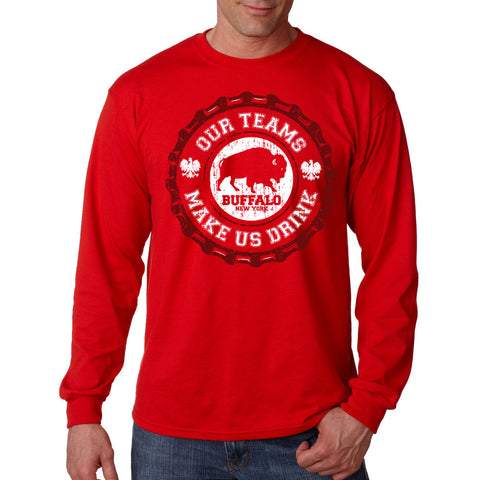 My Team Makes Me Drink - Polish - Men's Long Sleeve T