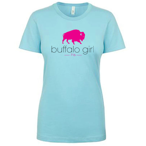 Buffalo Girl 716 - Ladies Fitted Crew Neck