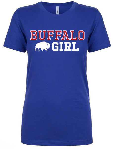 Buffalo Girl USA - Ladies Fitted crew neck