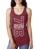 7RUN6 - Scarlet - Ladies Racerback Tank Top