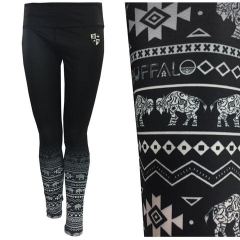 Buffalo Shield Tribal - Dry Fit Leggings