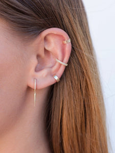 Katie Mini Huggie Hoops With dangling Spike - tissinyc
