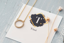 Load image into Gallery viewer, Anna Pave Open Circle Necklace - tissinyc