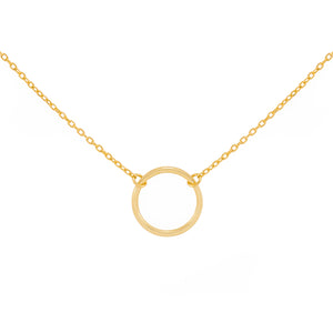 Olivia Simple Open Circle Necklace - tissinyc
