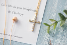 Load image into Gallery viewer, Pave Cross Necklace - tissinyc