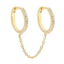 Load image into Gallery viewer, Double Huggie Chain Earring - tissinyc