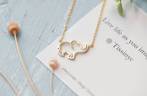 Dainty Elephant Necklace - tissinyc