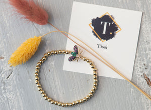 Tiny Bee Bracelet - tissinyc