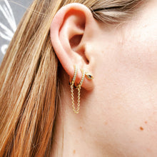 Load image into Gallery viewer, Double Huggie Chain Earring - Mottive.inc
