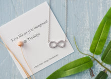 Load image into Gallery viewer, Levan pave Infinity Necklace - tissinyc