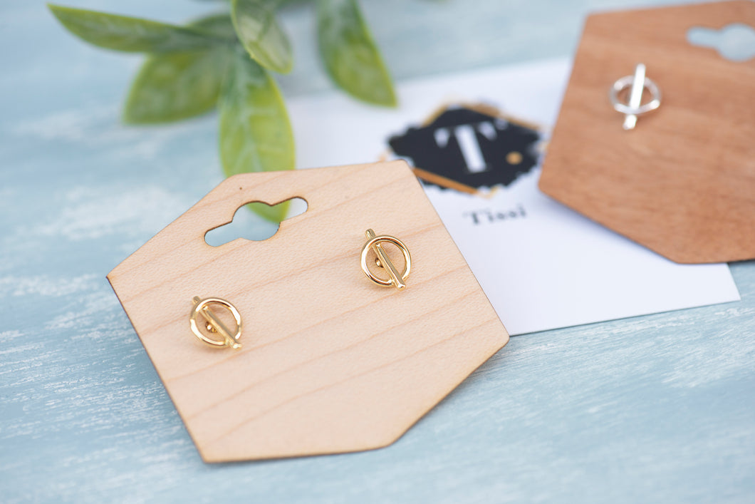 Tiny Knot Studs - tissinyc
