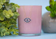 Load image into Gallery viewer, Silver Evil Eye Necklace - tissinyc