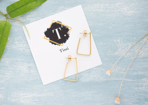 Mika Gold Triangle Stud Earring - tissinyc